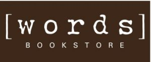 [words] white on brown logo
